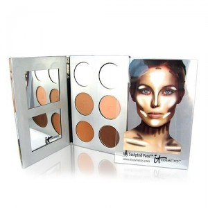 Face contouring makeup kit and instructions