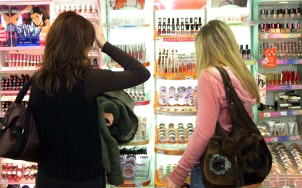 shopping for cosmetics