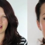 Before and After Angelina Jolie makeup